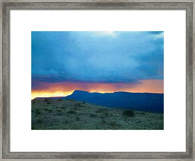 Fire In The Sky Mohave County Az Framed Print