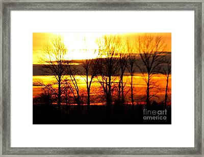 Fire In The Sky Framed Print by Nick Gustafson