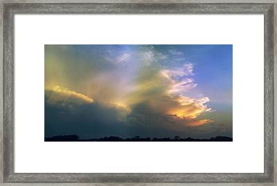 Framed Print featuring the photograph Fire In The Sky by Rod Seel