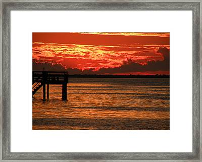 Fire In The Sky Framed Print by Rosalie Scanlon