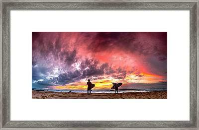 Fire In The Sky. Framed Print by Sean Davey