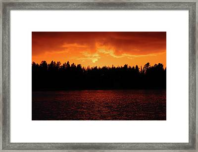 Fire In The Sky Framed Print by Teemu Tretjakov