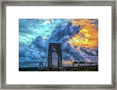 Framed Print featuring the photograph Fire In The Sky by Theodore Jones