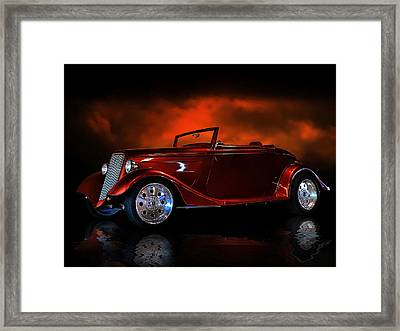 Fire Is The Lightning Framed Print by Rat Rod Studios