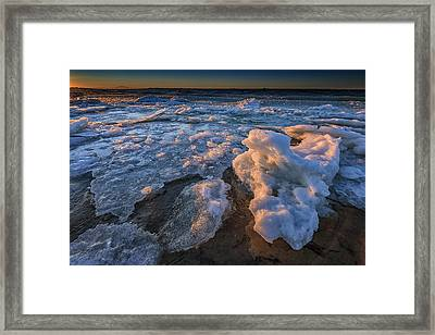 Fire Island Ice Framed Print by Rick Berk