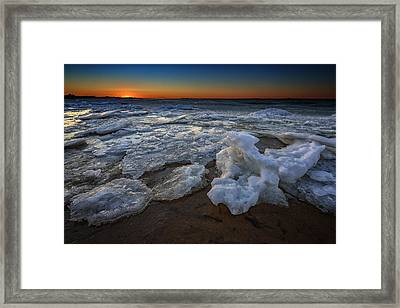 Fire Island Icy Shores Framed Print by Rick Berk