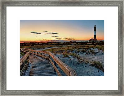 Fire Island Lighthouse At Robert Moses State Park Framed Print by Jim Dohms