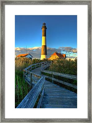 Fire Island Lighthouse Before Sunset Framed Print by Jim Dohms