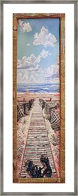 Fire Island Walkway To The Beach Framed Print