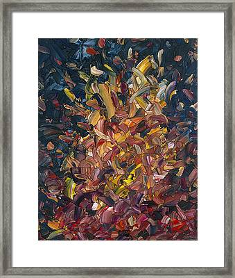 Fire Framed Print by James W Johnson