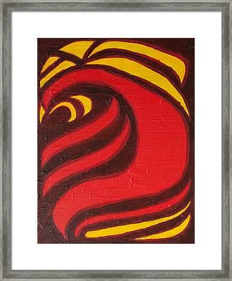 Fire Framed Print by Joseph Bradley