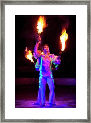 Fire Juggler Framed Print