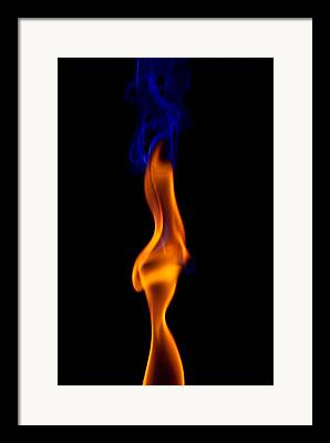 Flame Haired Framed Prints