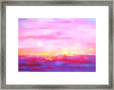 Fire Lake Framed Print by Dan Sproul