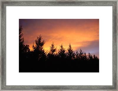 Fire Framed Print by Laura Burchfield