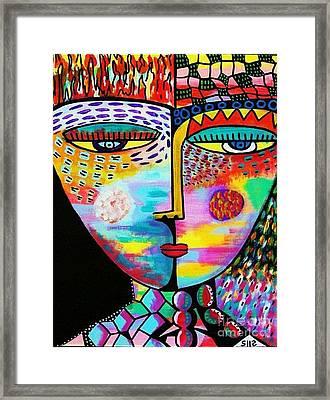 Fire Lava Goddess Framed Print