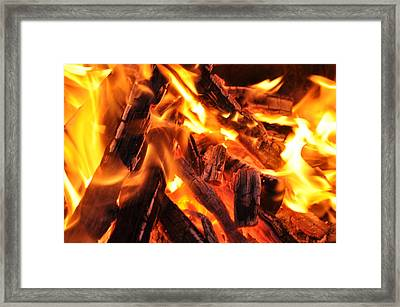 Fire Framed Print by Leonard Voicu
