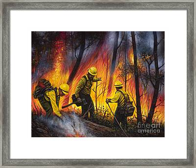 Fire Line 2 Framed Print