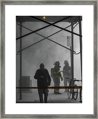 Fire Line Framed Print
