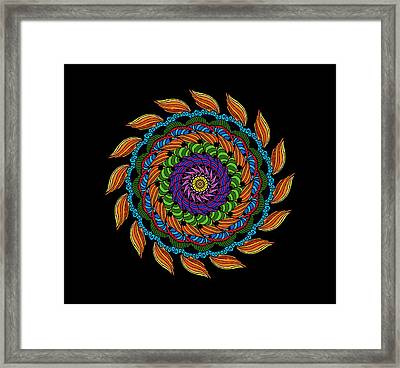 Fire Mandala Framed Print