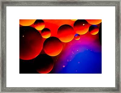 Fire Moons Framed Print