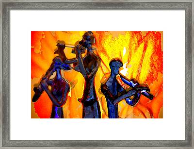 Fire Music Framed Print by Danielle Stephenson