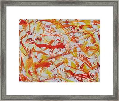 Fire Nymphs Framed Print by Sandra Winiasz