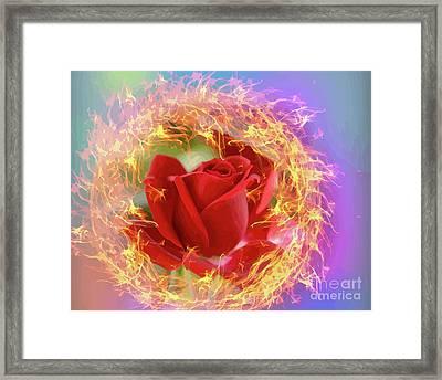 Fire Of Desire Framed Print