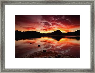 Framed Print featuring the photograph Fire Of Fall by John De Bord