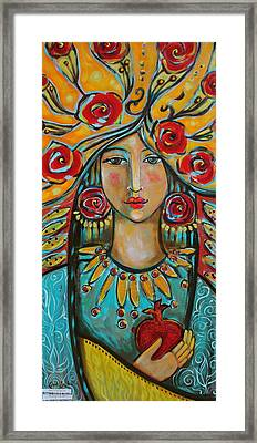 Fire Of The Spirit Framed Print by Shiloh Sophia McCloud