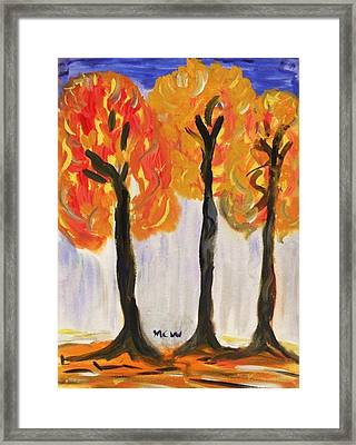 Fire Of The Wood Framed Print by Mary Carol Williams