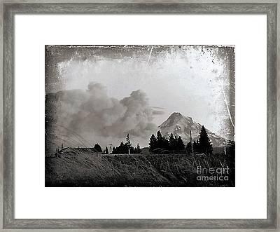 Fire On Mt Hood Framed Print
