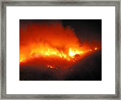 Fire On Signal Hill Framed Print