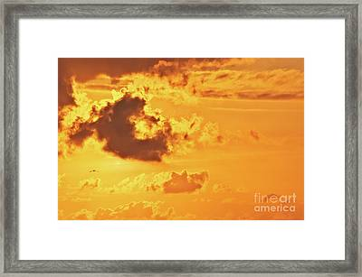 Fire On Sky Framed Print by Angela Doelling AD DESIGN Photo and PhotoArt