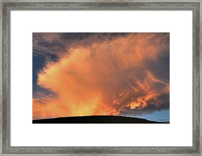 Fire On The Mountain  Framed Print by Donna Kennedy