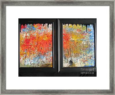 Fire On The Prairie Framed Print by Jacqueline Athmann