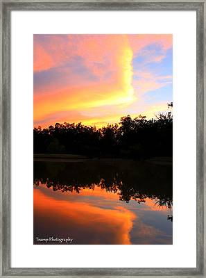 Fire On The Water Framed Print