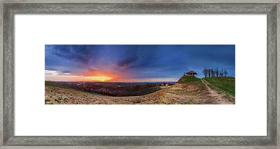 Fire On The West Side Framed Print