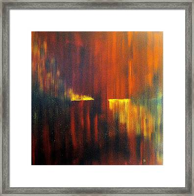 Fire On Water Framed Print by David Hatton