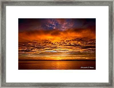Fire Over Lake Eustis Framed Print by Christopher Holmes