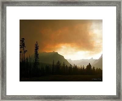 Fire Over St Mary Framed Print