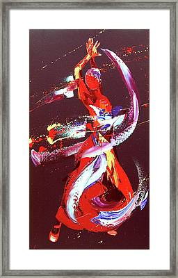 Fire Framed Print by Penny Warden