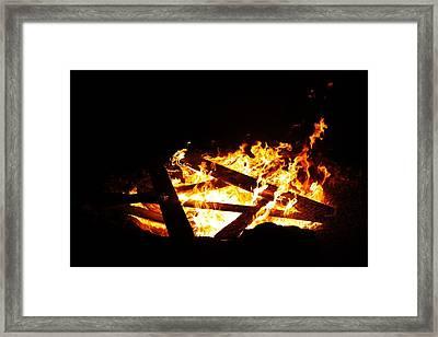 Fire Pit Framed Print by Lori Mahaffey