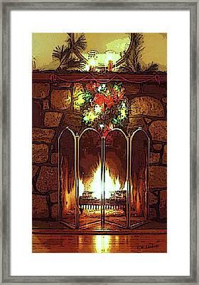 Fire Place Framed Print by Kenneth Lambert