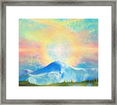 Fire Rainbow Over Alberta Peak Wolf Creek Colorado Framed Print