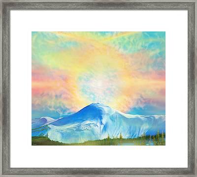 Fire Rainbow Over Alberta Peak Wolf Creek Colorado Framed Print