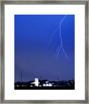 Fire Rescue Station 67  Lightning Thunderstorm 2c Framed Print