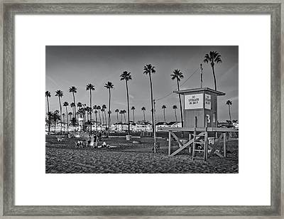 Fire Rings At Dusk Framed Print by Kelley King