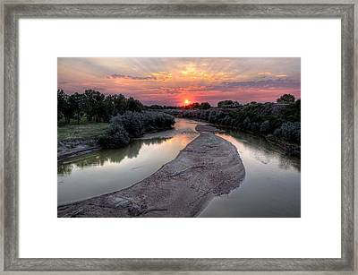 Fire Rise Framed Print