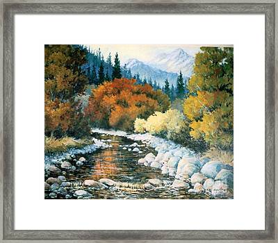 Fire River Framed Print by JoAnne Corpany